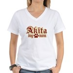 Akita Mom Women's V-Neck T-Shirt