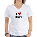 I Love Kerry Women's V-Neck T-Shirt