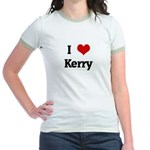 I Love Kerry Jr. Ringer T-Shirt