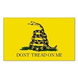 Gadsden Flag - Rectangle Decal
