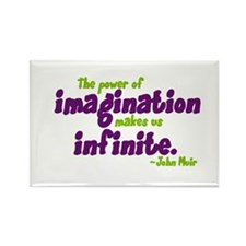 The Power of Imagination Rectangle Magnet