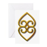 Adinkra Symbol - Earth- gold Greeting Cards (Pk of