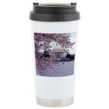 Cherry Blossoms, Washington, DC Ceramic Travel Mug