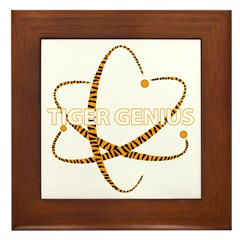 Tiger Genius Framed Tile