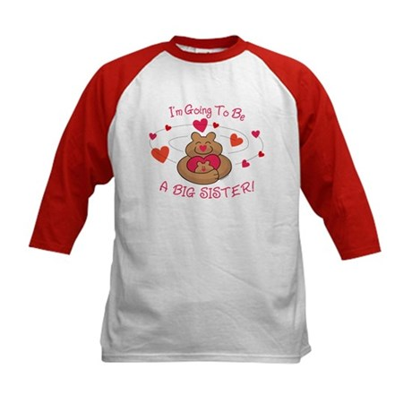 Bear Hug Future Big Sister Kids Baseball Jersey