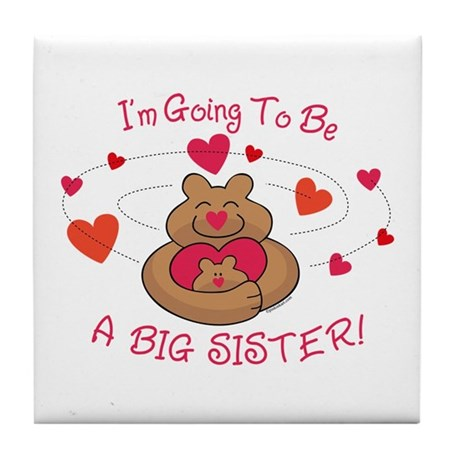 Bear Hug Future Big Sister Tile Coaster