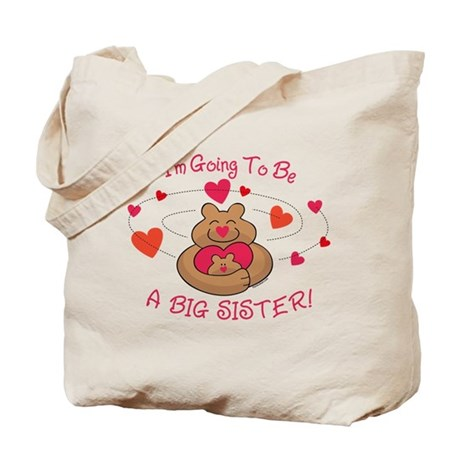 Bear Hug Future Big Sister Tote Bag