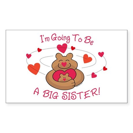 Bear Hug Future Big Sister Rectangle Sticker
