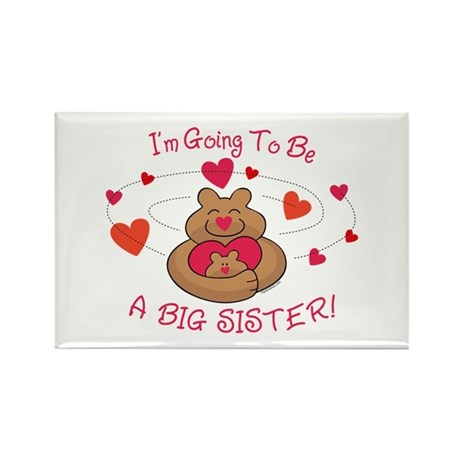 Bear Hug Future Big Sister Rectangle Magnet