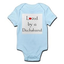 Loved by a Dachshund Infant Creeper