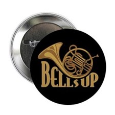 "Bells Up Horn 2.25"" Button"