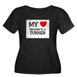 My Heart Belongs To A TURNER Women's Plus Size Sco