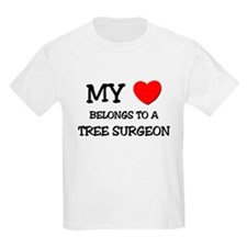 My Heart Belongs To A TREE SURGEON T-Shirt