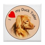 Duck Toller Love Tile Coaster