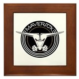 Maverick Head Framed Tile