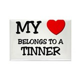 My Heart Belongs To A TINNER Rectangle Magnet
