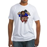 Youth in Asia graffitti logo Fitted T-Shirt