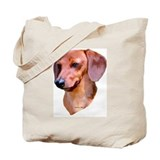 red dachshund Tote Bag