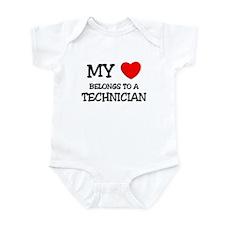 My Heart Belongs To A TECHNICIAN Infant Bodysuit