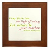 Let Nature Be Your Teacher Framed Tile