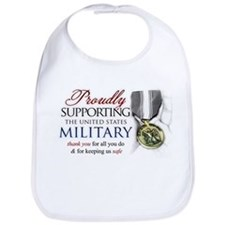 Proudly Supporting (Military) Bib