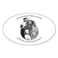 Fighting Chance Oval Decal