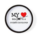 My Heart Belongs To A SYSTEMS DEVELOPER Wall Clock