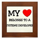 My Heart Belongs To A SYSTEMS DEVELOPER Framed Til