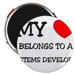 My Heart Belongs To A SYSTEMS DEVELOPER Magnet