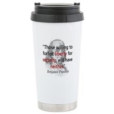 Benjamin Franklin Ceramic Travel Mug