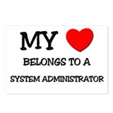 My Heart Belongs To A SYSTEM ADMINISTRATOR Postcar