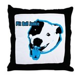 Pit Bull Junkie Throw Pillow