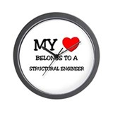 My Heart Belongs To A STRUCTURAL ENGINEER Wall Clo
