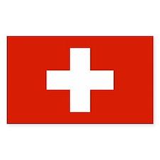 Swiss Flag Rectangle Sticker 10 pk)