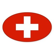 Swiss Flag Oval Decal