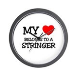 My Heart Belongs To A STRINGER Wall Clock