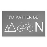IRB Mountain Biking Rectangle Decal