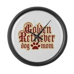 Golden Retriever Mom Large Wall Clock