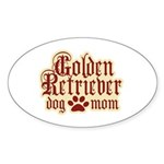Golden Retriever Mom Sticker (Oval 10 pk)