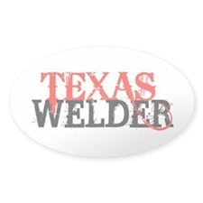 Texas Welder Oval Decal