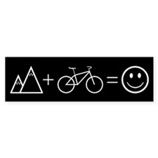 Happy Mountain Biking Bumper Sticker (10 pk)