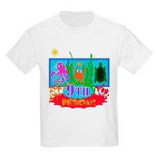 Undersea Adventure 9th Kids T-Shirt