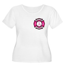 Cute Firefighter breast cancer T-Shirt