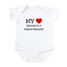 My Heart Belongs To A SPEECH THERAPIST Infant Body