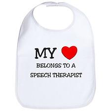 My Heart Belongs To A SPEECH THERAPIST Bib