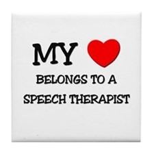 My Heart Belongs To A SPEECH THERAPIST Tile Coaste