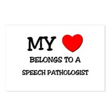 My Heart Belongs To A SPEECH PATHOLOGIST Postcards