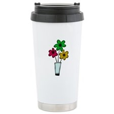 Just The Flowers Ceramic Travel Mug