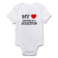 My Heart Belongs To A SOLICITOR Infant Bodysuit