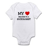 My Heart Belongs To A SOCIOLOGIST Infant Bodysuit